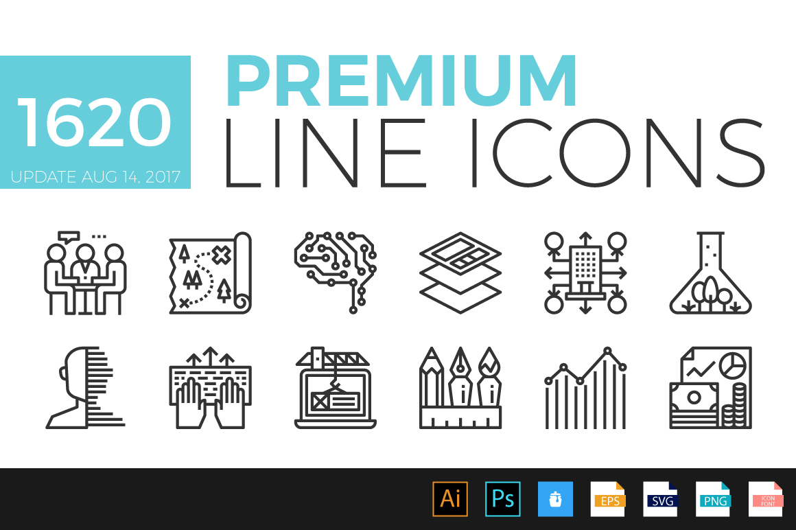 Download Free Premium Line Icons Graphic By Becrispk Creative Fabrica for Cricut Explore, Silhouette and other cutting machines.