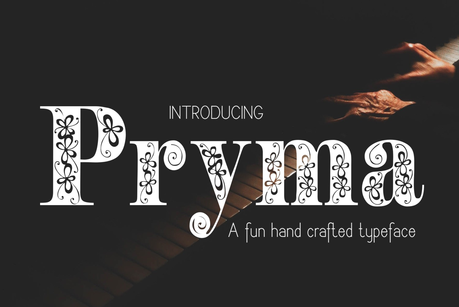 Print on Demand: Pryma Decorative Font By Eva Barabasne Olasz