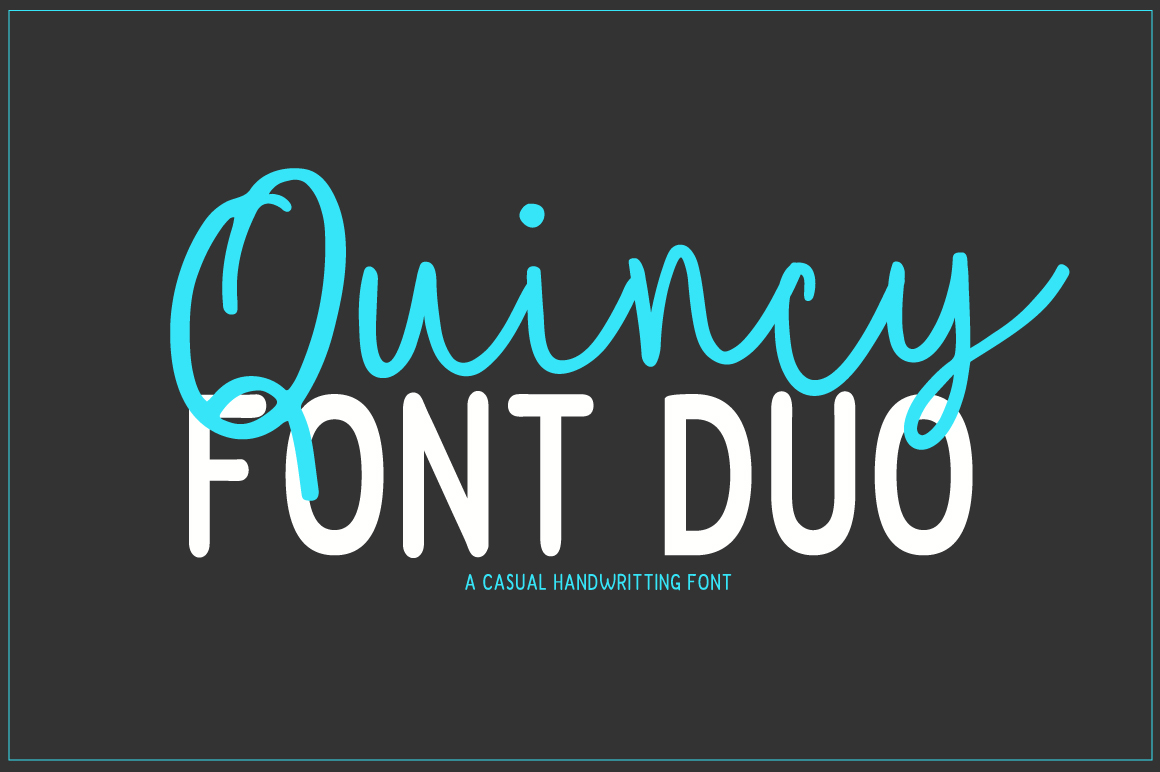 Print on Demand: Quincy Script & Handwritten Font By PaulaType