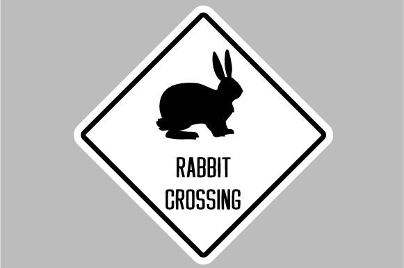 Download Free Rabbit Crossing Sign Svg Cut File By Creative Fabrica Crafts for Cricut Explore, Silhouette and other cutting machines.