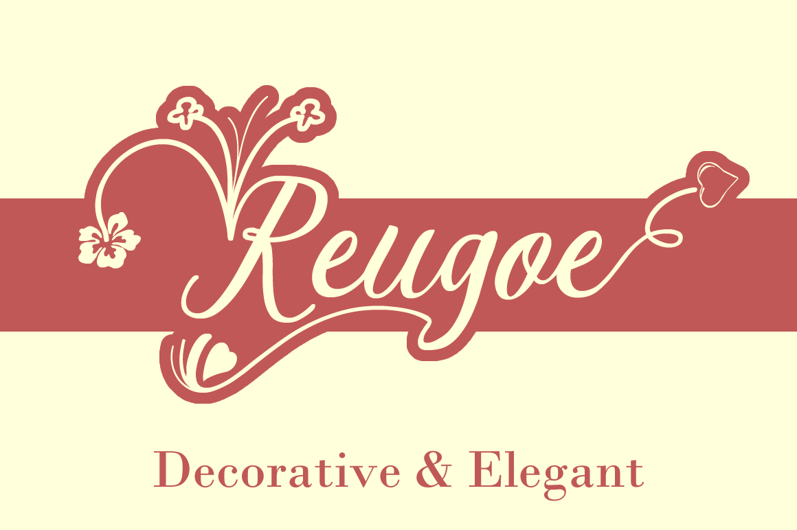 Print on Demand: Reugoe Script Script & Handwritten Font By Creative Fabrica Fonts