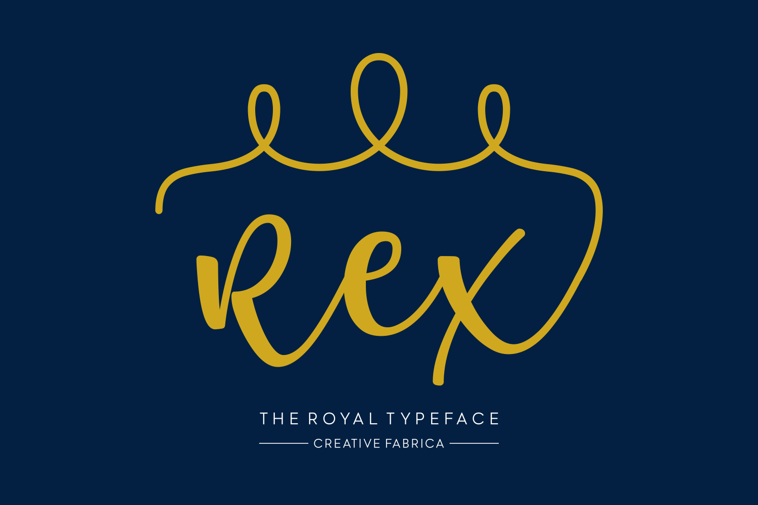 Print on Demand: Rex Script & Handwritten Font By Creative Fabrica Fonts