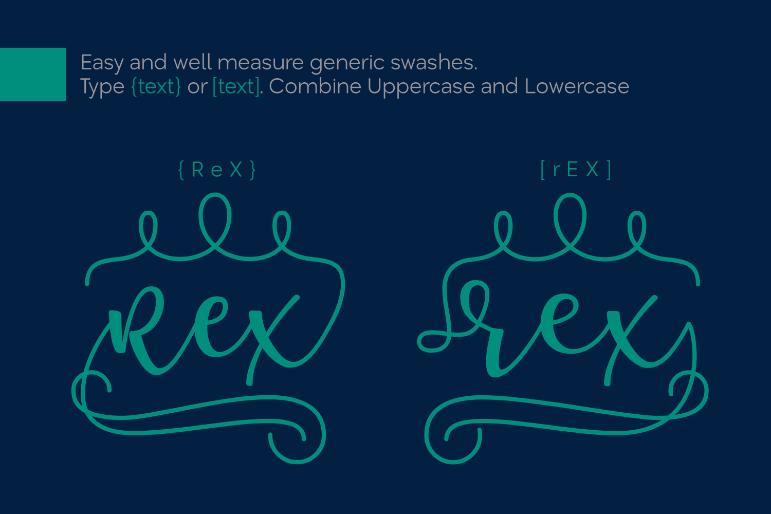 Print on Demand: Rex Script & Handwritten Font By Creative Fabrica Fonts - Image 3