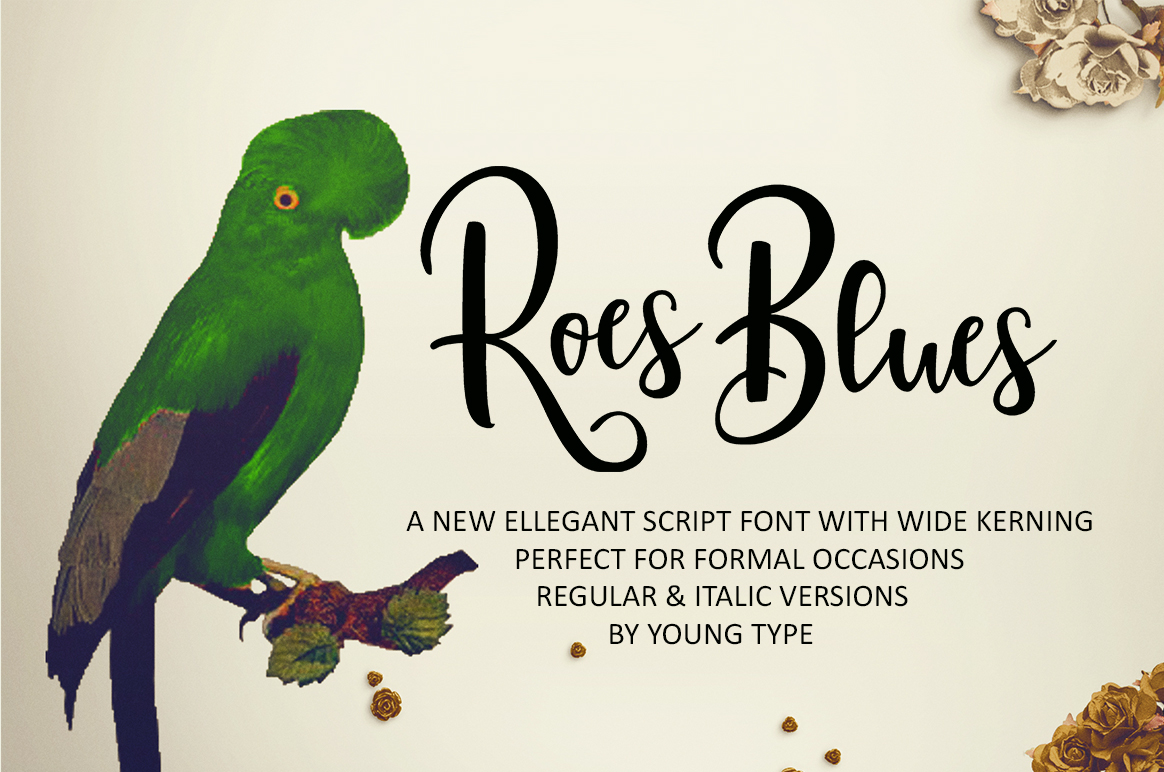 Print on Demand: Roes Blues Script & Handwritten Font By Youngtype
