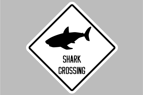 Download Free Shark Crossing Sign Svg Cut File By Creative Fabrica Crafts for Cricut Explore, Silhouette and other cutting machines.