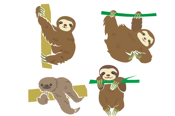 Download Free Sloths Design Set Svg Cut File By Creative Fabrica Crafts for Cricut Explore, Silhouette and other cutting machines.