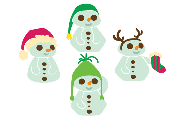 Download Free Snowman With Christmas Hat Design Set Svg Cut File By Creative SVG Cut Files