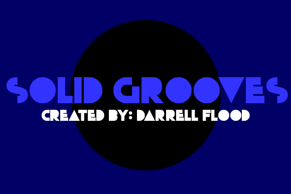 Print on Demand: Solid Grooves Display Font By Dadiomouse