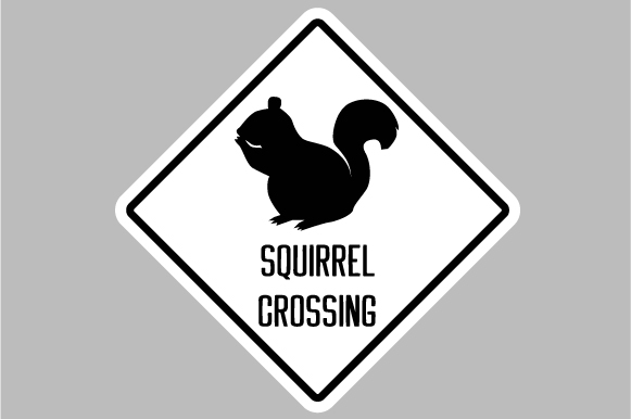 Download Free Squirrel Crossing Sign Svg Cut File By Creative Fabrica Crafts for Cricut Explore, Silhouette and other cutting machines.