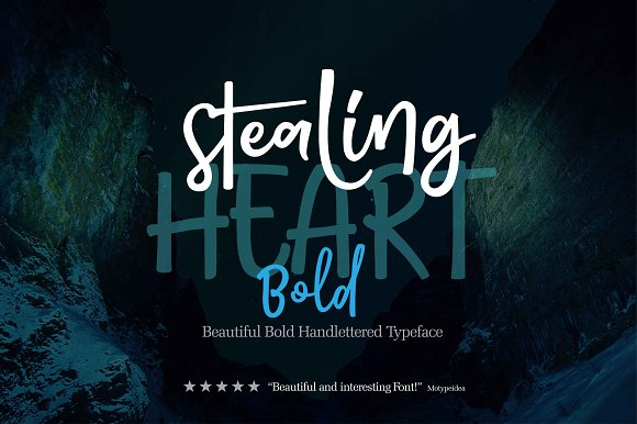 Download Free Stealing Heart Bold Font By Olexstudio Creative Fabrica for Cricut Explore, Silhouette and other cutting machines.