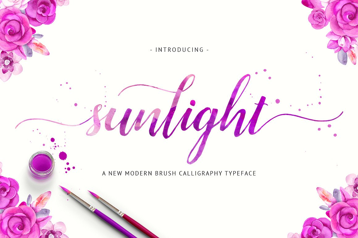 Print on Demand: Sunlight Script & Handwritten Font By Unicode Studio