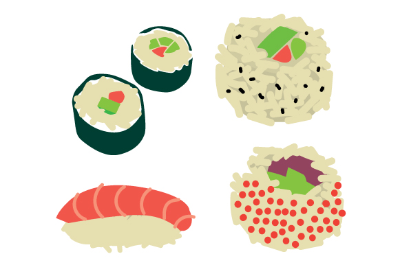 Download Free Sushi Design Set Svg Cut File By Creative Fabrica Crafts for Cricut Explore, Silhouette and other cutting machines.