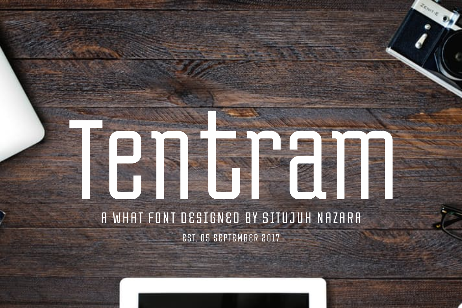Print on Demand: Tentram Display Font By Situjuh