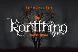 The Ranthing Typeface Decorative Font By Din Ali