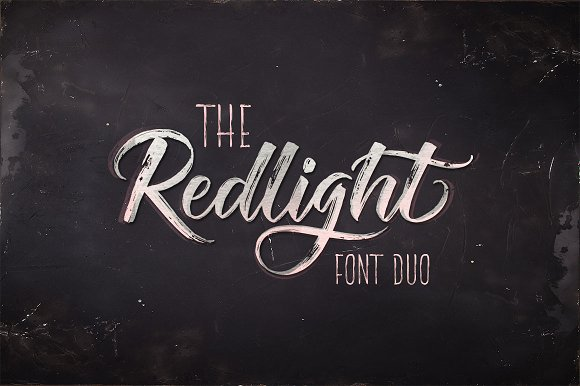 Print on Demand: The Redlight Manuscrita Fuente Por Olexstudio