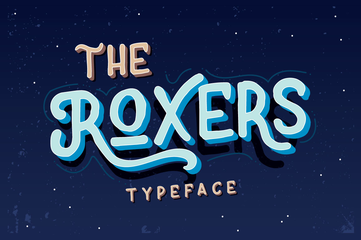 The Roxers Display Font By Fusion Labs Type Foundry