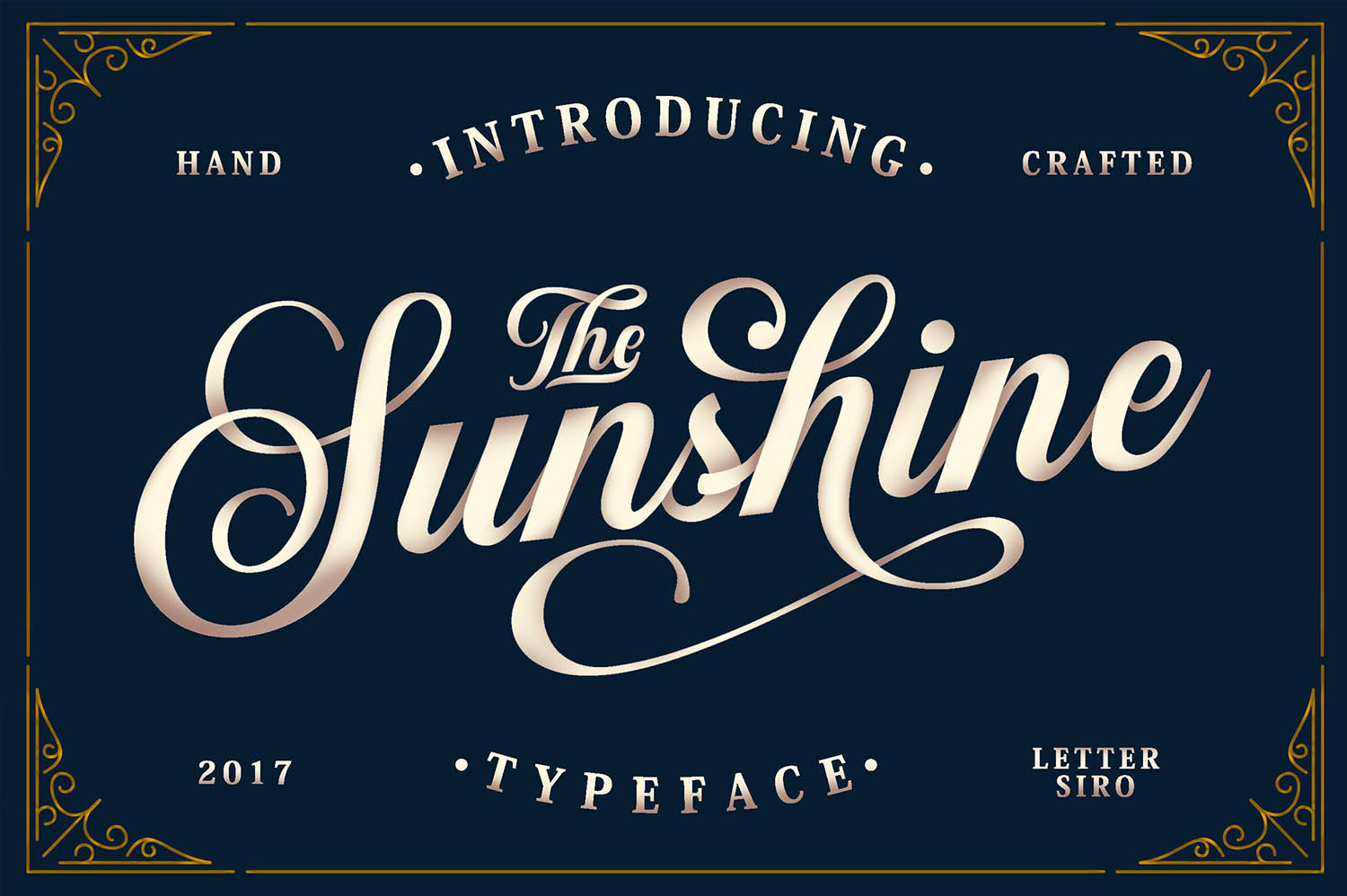 Sunshine & Vintage Ornaments Font By Lettersiro Co