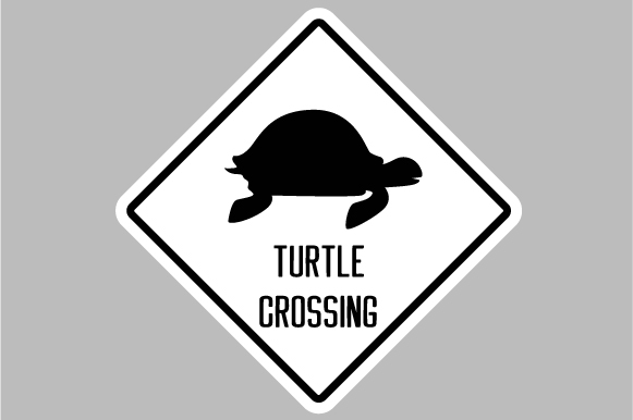 Turtle Crossing Sign Svg Cut File By Creative Fabrica Crafts Creative Fabrica