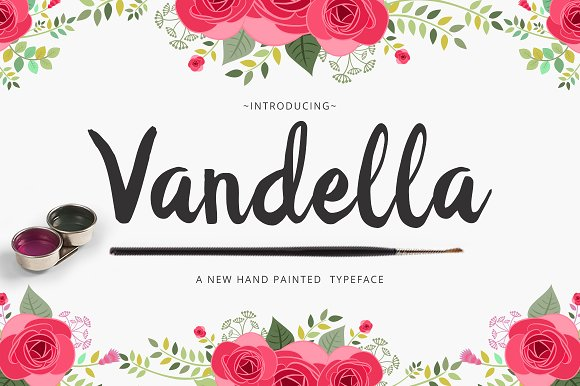 Print on Demand: Vandella Script & Handwritten Font By Unicode Studio