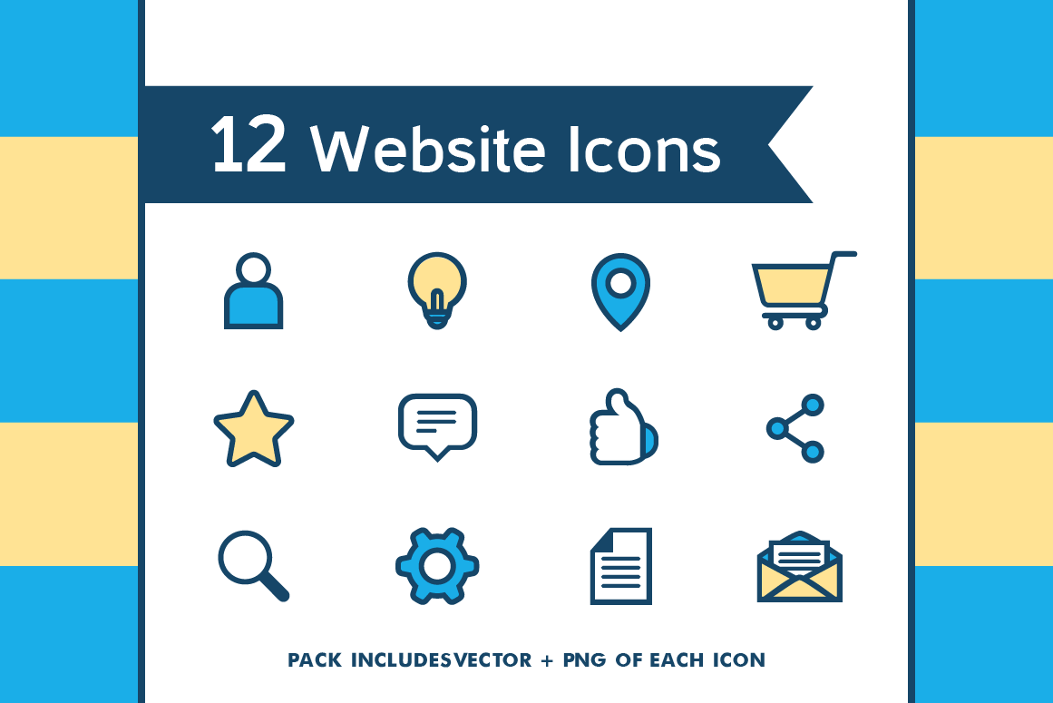 Website Icon Set Graphic Icons By The Stock Croc