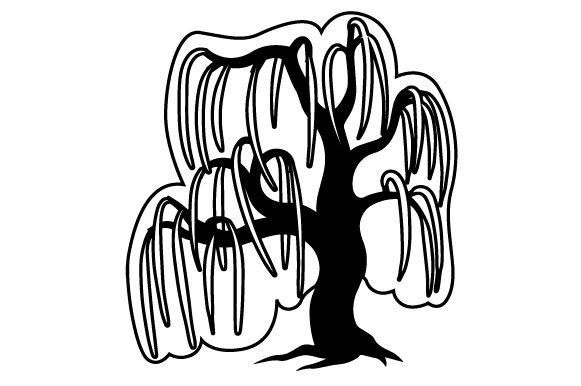 Download Free Weeping Willow Svg Cut File By Creative Fabrica Crafts for Cricut Explore, Silhouette and other cutting machines.