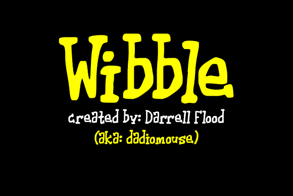 Print on Demand: Wibble Serif Font By Dadiomouse