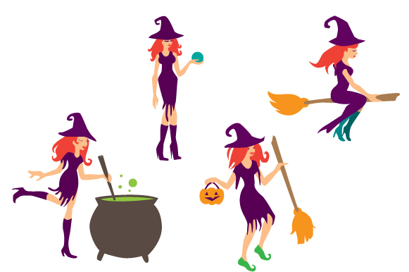 Witches Design Set Halloween Craft Cut File By Creative Fabrica Crafts