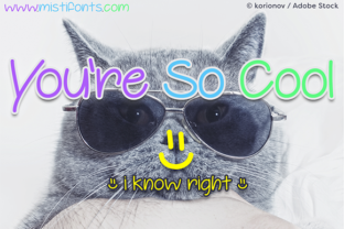 You're so Cool Font By Misti