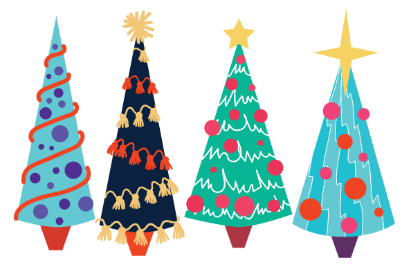 Cute Christmas Trees  Craft Design By Creative Fabrica Crafts