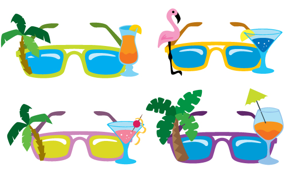 Cocktail Sunglasses Svg Cut File By Creative Fabrica Crafts