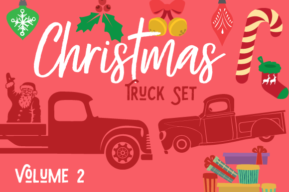 Christmas Truck Kit Volume 2 - Create Your Own Truck Craft Design Por Creative Fabrica Crafts