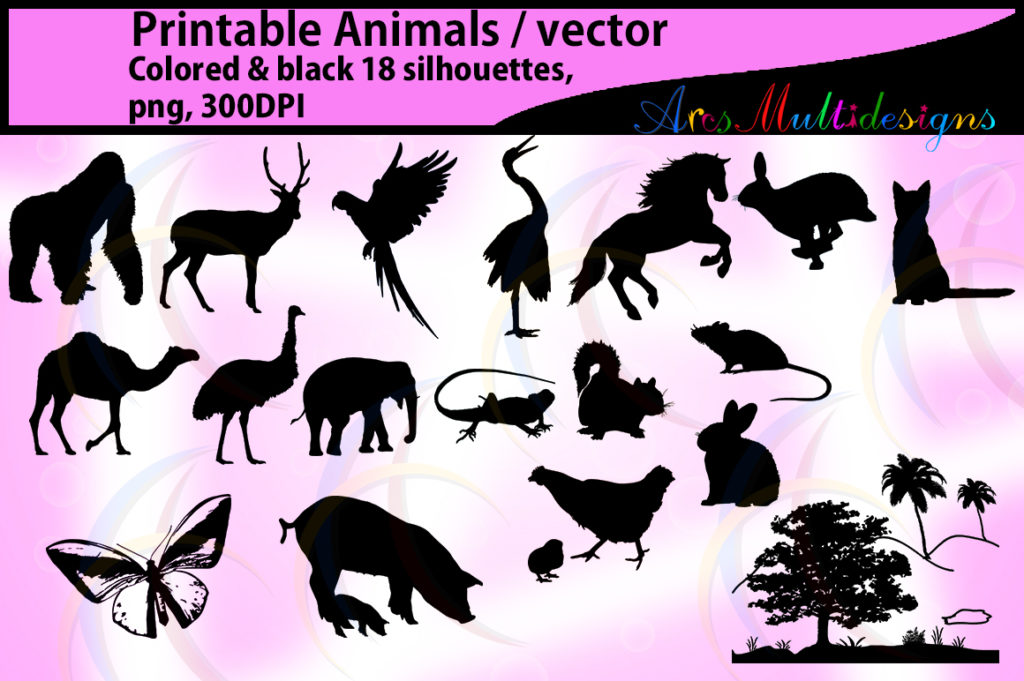 Animal Silhouette Graphic By Arcs Multidesigns