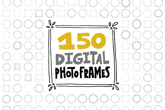 150 Digital Frames Graphic Illustrations By Favete Art