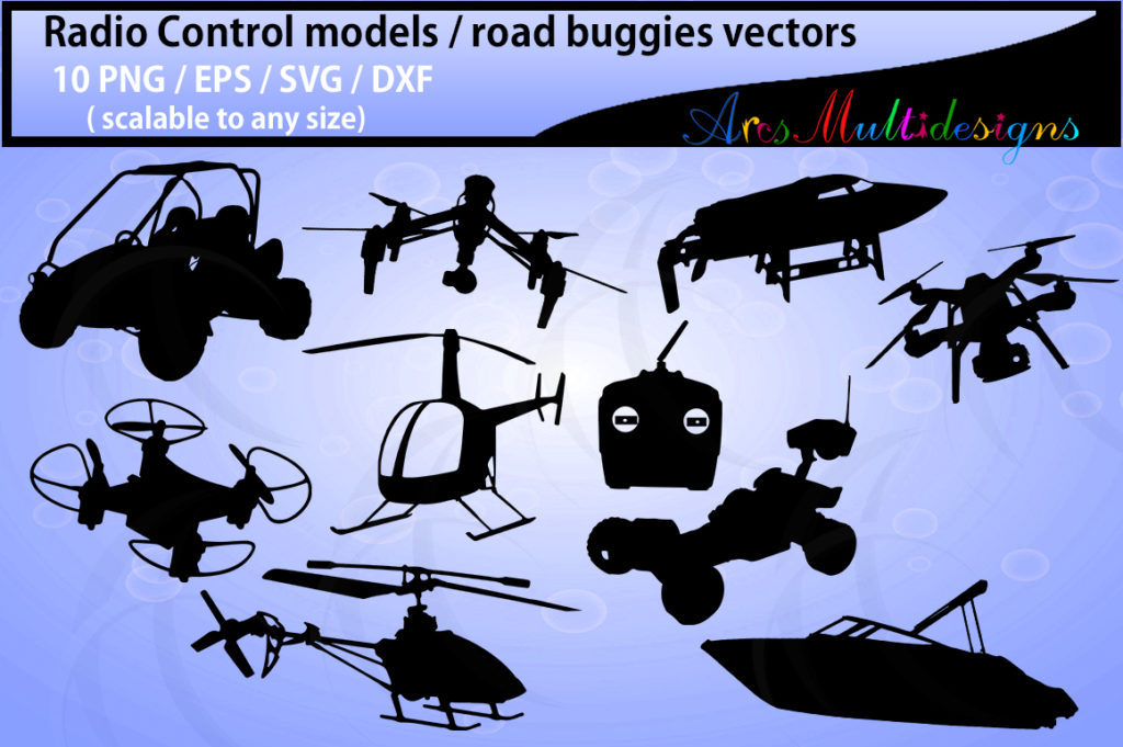 Print on Demand: Radio Control Model Silhouette Graphics Graphic Objects By Arcs Multidesigns
