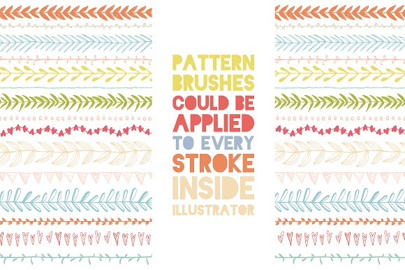 30 Handdrawn Vector Pattern Brushes Graphic Brushes By Favete Art - Image 2