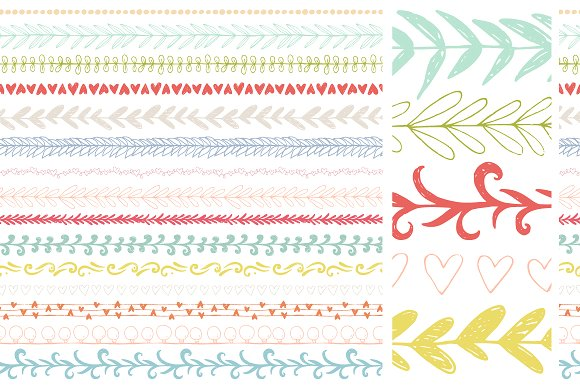 30 Handdrawn Vector Pattern Brushes Graphic Brushes By Favete Art - Image 3
