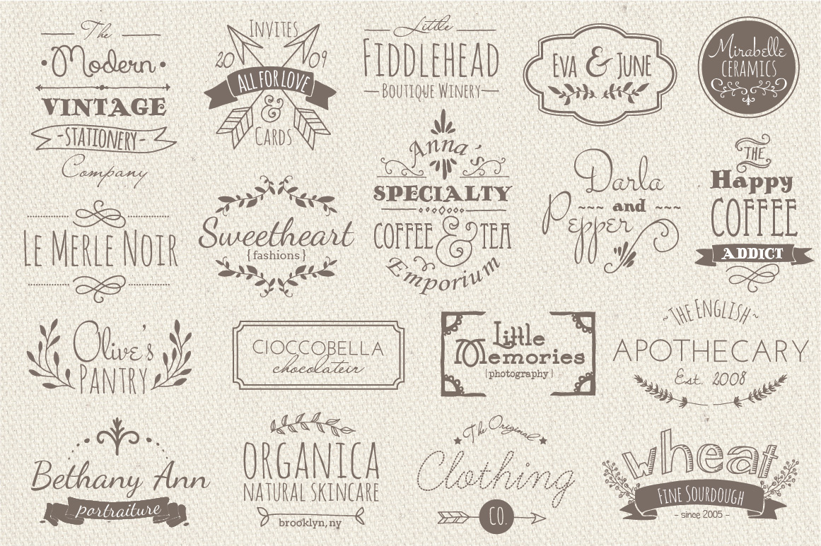 35 Hand Drawn Logos Graphic Logos By The Pen and Brush - Image 2