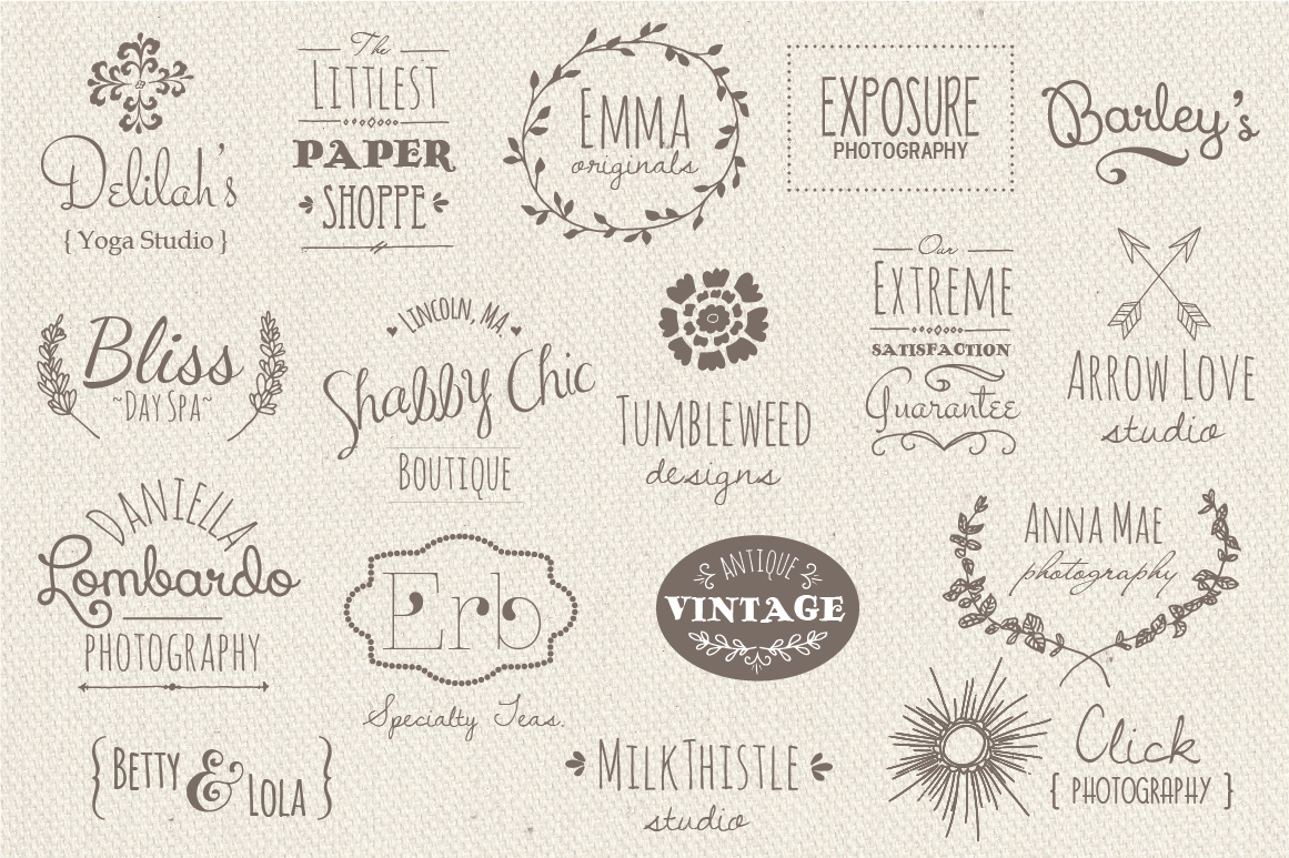 35 Hand Drawn Logos Graphic Logos By The Pen and Brush - Image 3