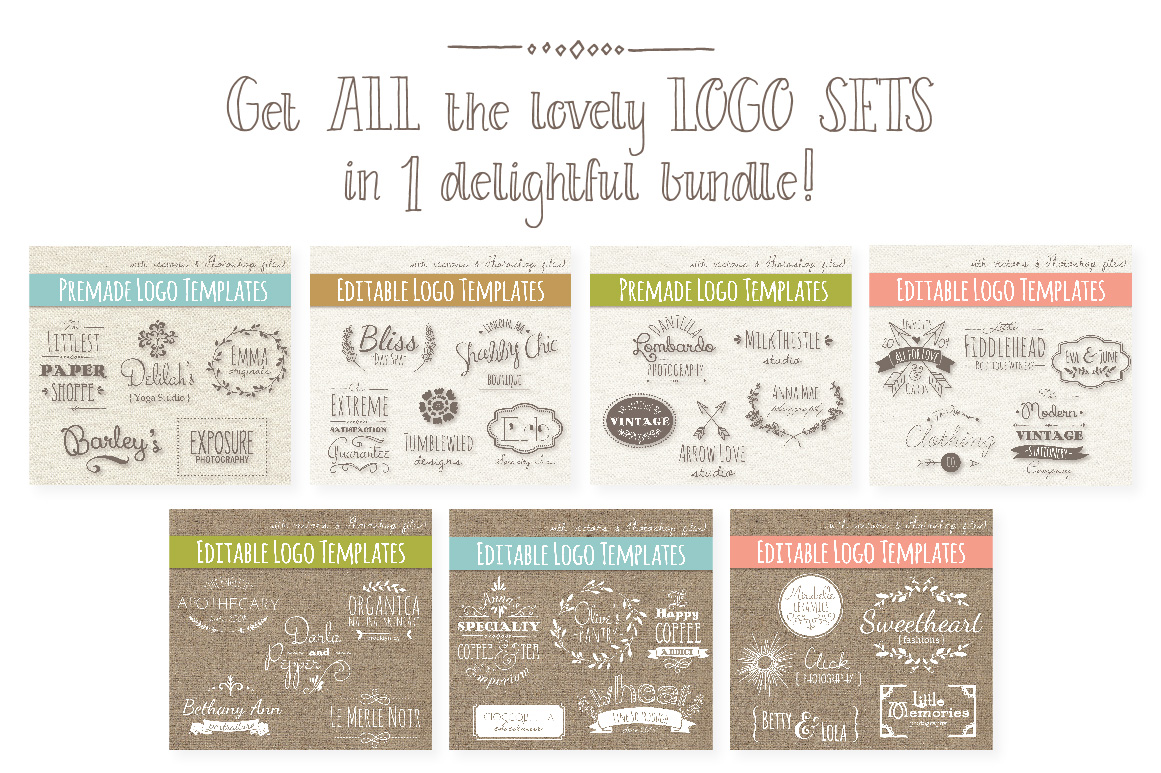 35 Hand Drawn Logos Graphic Logos By The Pen and Brush - Image 4