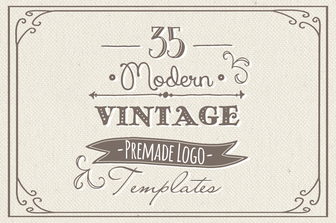 35 Hand Drawn Logos Graphic Logos By The Pen and Brush - Image 1
