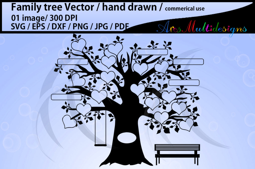 Print on Demand: Family Tree Graphic Illustrations By Arcs Multidesigns