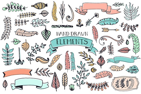 56 Doodle Decoration Elements Graphic By Favete Art