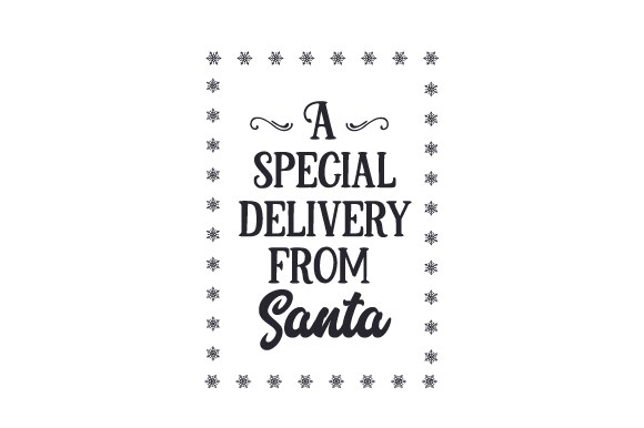 Download Free A Special Delivery From Santa Santa Bag Design Svg Cut File By for Cricut Explore, Silhouette and other cutting machines.