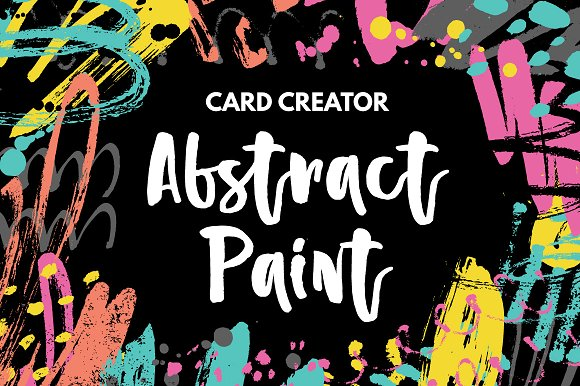 Abstract Paint Card Creator Graphic Print Templates By Favete Art
