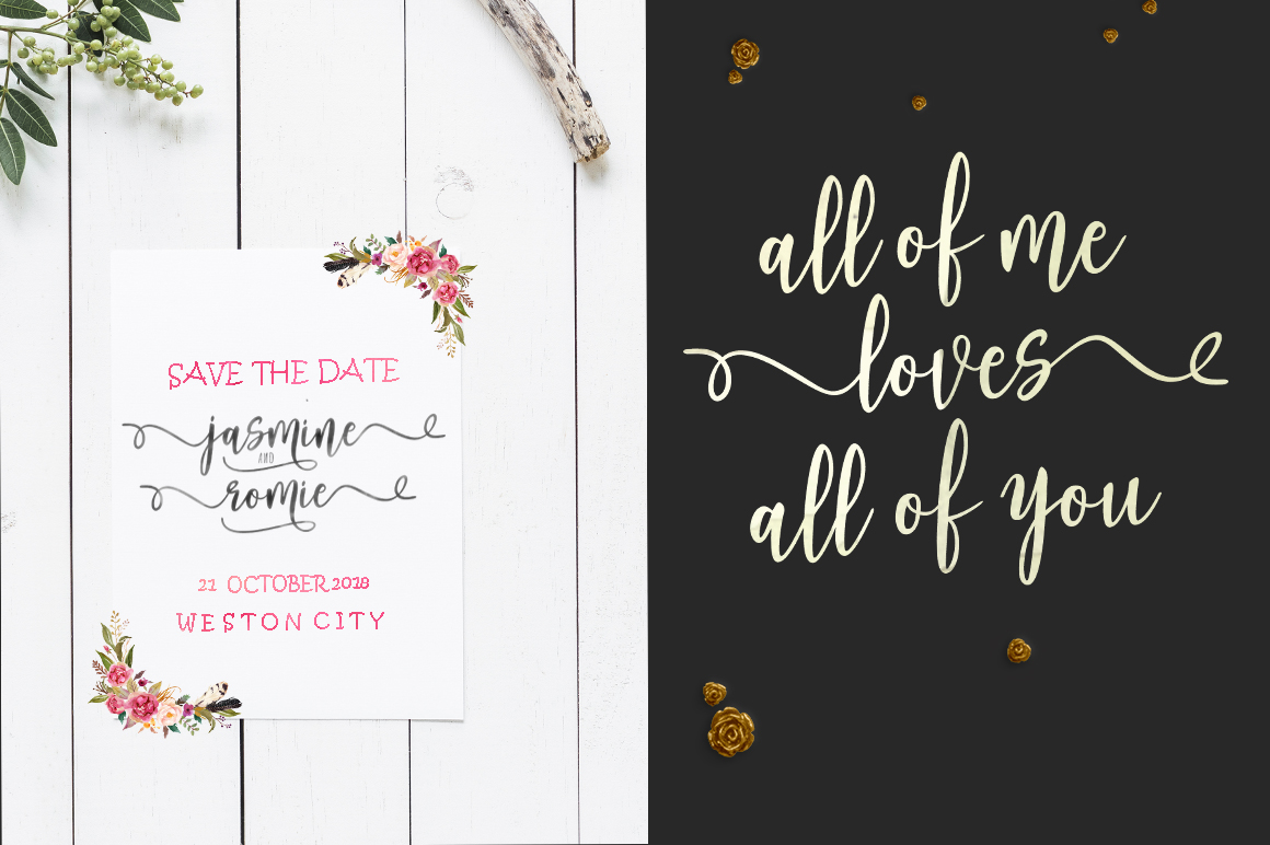 Print on Demand: Adheana Script & Handwritten Font By Youngtype - Image 3