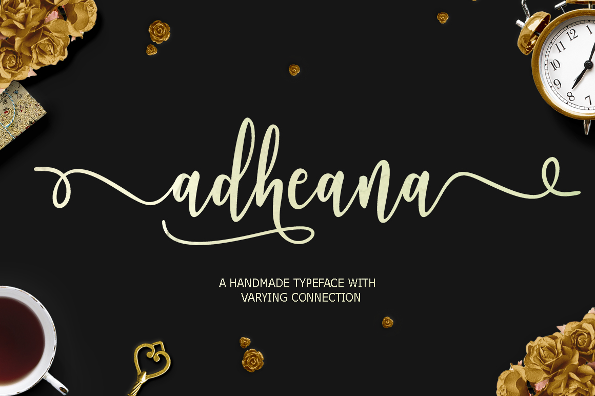 Print on Demand: Adheana Script & Handwritten Font By Youngtype
