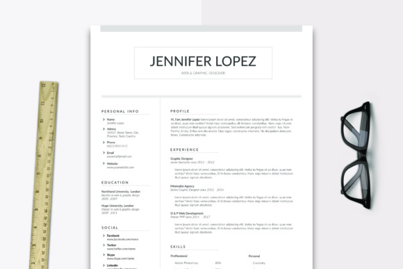 Alaska Resume Cover Letter Graphic By Sameeh Media Creative Fabrica