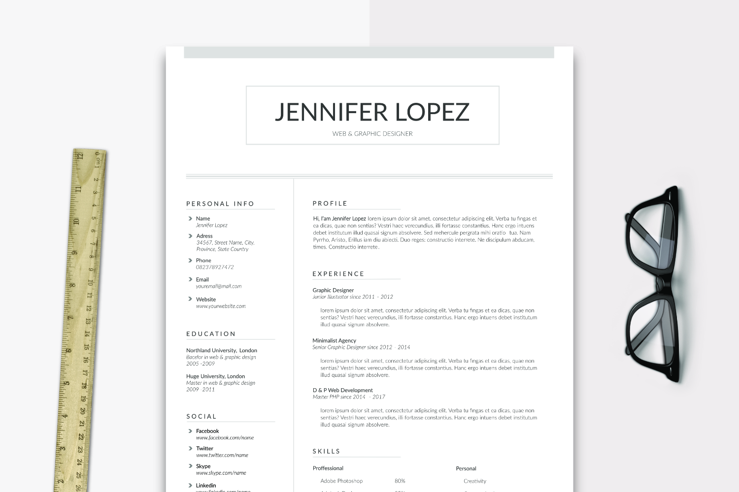Print on Demand: Alaska Resume + Cover Letter Graphic Print Templates By Sameeh Media