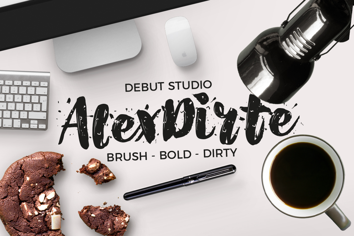 Print on Demand: AlexDirte Script & Handwritten Font By Debut Studio