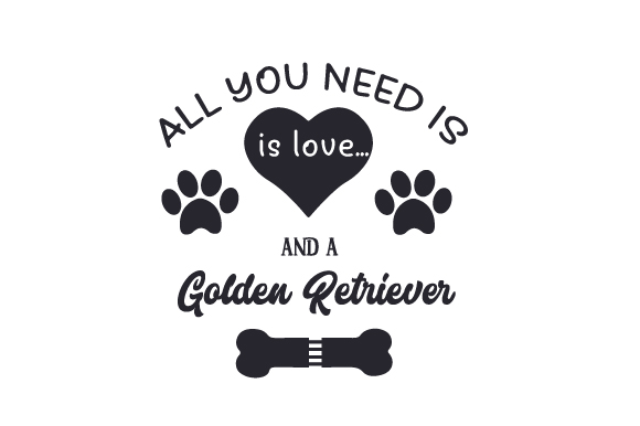 All You Need is Love... and a Golden Retriever Craft Design By Creative Fabrica Crafts Image 2